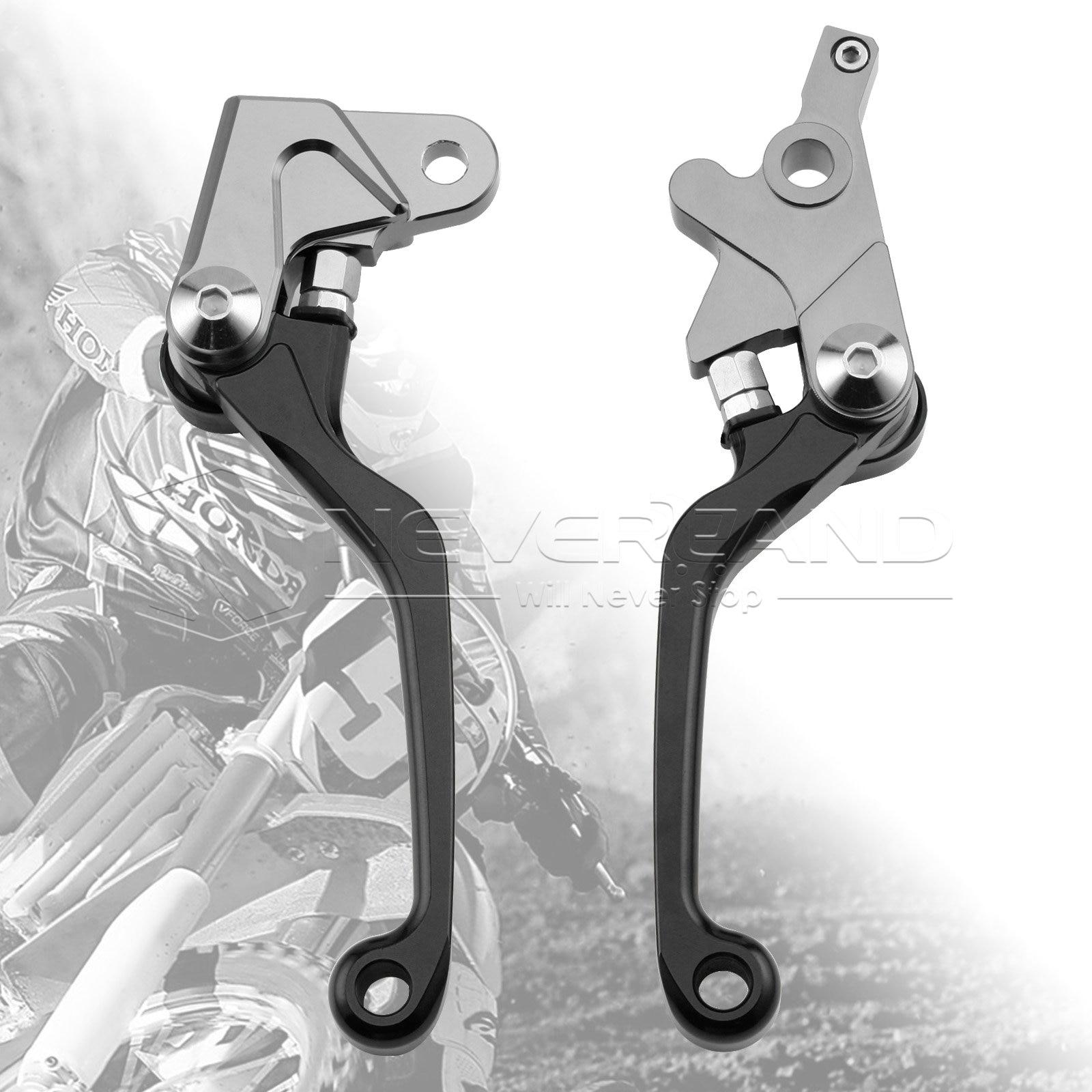 One Pair CNC Pivot Brake Clutch Levers For Honda XR250/MOTARD 95-07 XR400MOTARD 05-08 CRM250R/AR 94-98 L01K/R05K Black D10 cnc dirt bike flex pivot brake clutch levers for honda crm250r ar xr250 400 motard