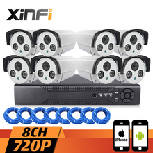 XINFI 8CH Surveillance System HDMI NVR Community Video Recorder 720P cctv system HD Dwelling Safety Digicam System CCTV package