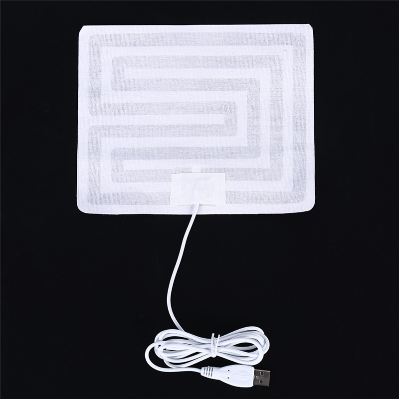Fast Deliver 1pcs White Usb Heated Vest Pads Electric Heated Winter Warm Arm Hands Waist Heated Mat Household Merchandises Electric Heating Pads