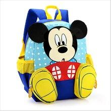 Impermeable de dibujos animados mickey mochilas/niños bebé bolsas mochilas para niños/niños mochilas escolares/mochila para niños y niñas