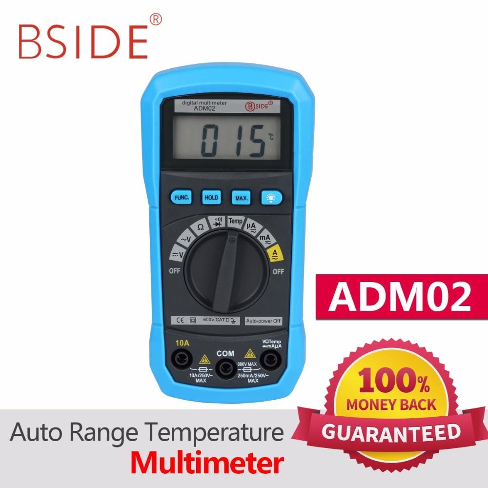 BSIDE multímetro Digital ADM01/ADM02 multifunción AC/DC tensión corriente resistencia capacitancia Tester