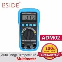 BSIDE Digital Multimeter ADM01 ADM02 Multifunction AC DC Voltage Current Temperature Resistance Capacitance Tester