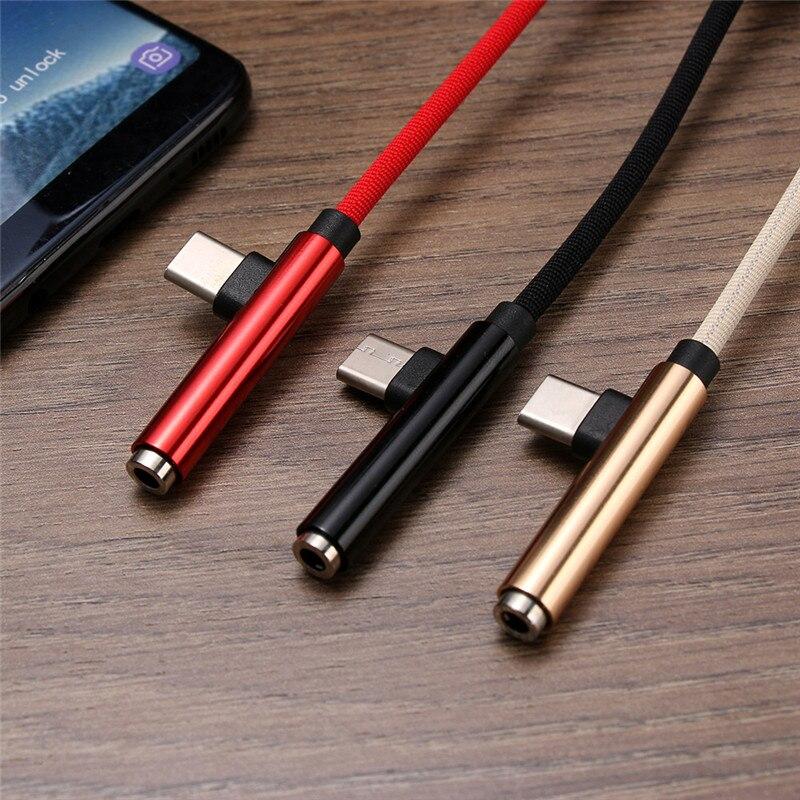 100 pcs Adaptateur Audio Convertisseur 2 Dans 1 USB C AUX Casque Jack Câble Type-C À 3.5mm charge rapide Câble Multifonction