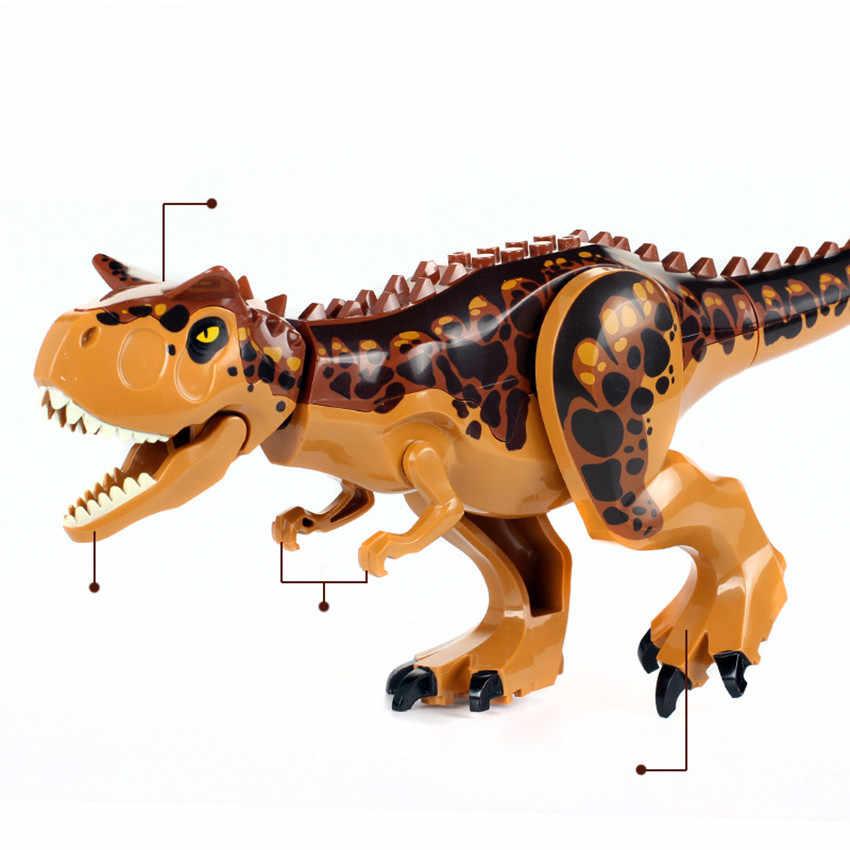ビッグサイズジュラ紀世界恐竜公園 Indoraptor Rex 攻撃 Rockwood マナーフィットビルディングブロックレンガ子供 diy おもちゃの誕生日