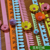 Freeshipping 5pcs*8 Packs Design 5cm * 50cm Flower Design Quilling Paper crafts for DIY Handmade Cards decor Paper /Scrapbooking