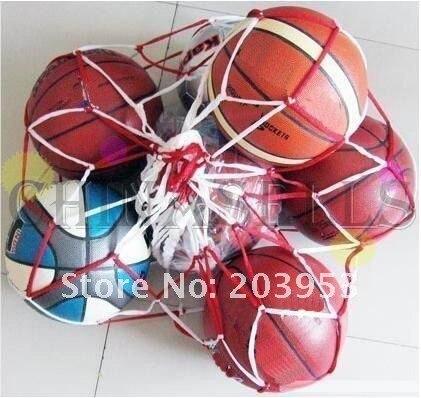 1 шт., Сетчатая Сумка для переноски спортивных мячей, 10 мячей, портативное оборудование для занятий спортом, баскетболом, волейболом-5
