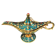 Magic Genie LED Light Lamp Pot Classic Incense Burners For Gift Decoration Genie Lamp Wishing Oil Lamp Tabletop Decor Crafts недорого