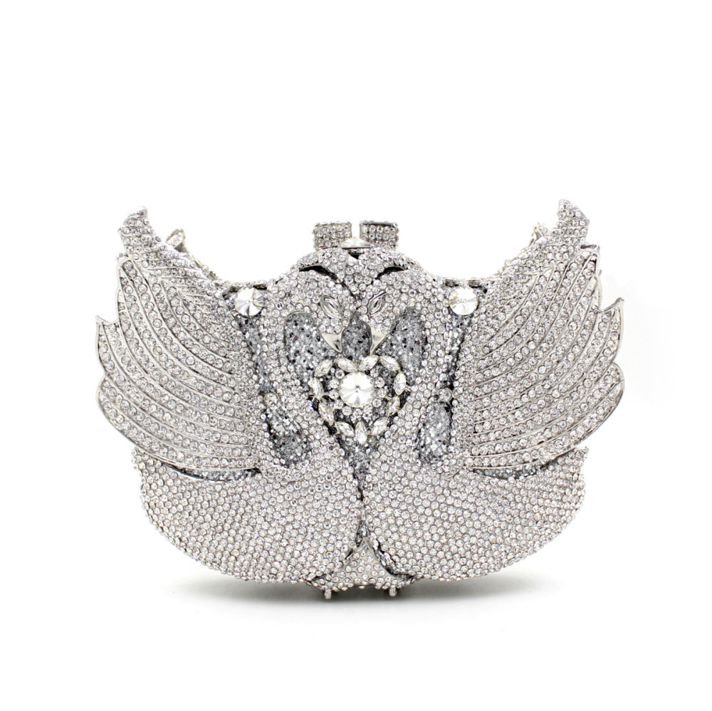 The Sale Time-limited Flap Day Clutches Single Unisex Supply Of 2017 Europe Luxury Diamond Crystal Swan Dinner Bag Full Hand for hot sale sale flap day clutches the 2017 straight priced luxury dinner bag double diamond phoenix full engraved with empty
