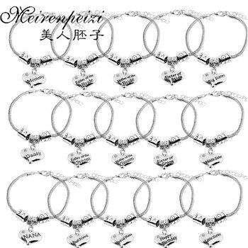 Presente de casamento para a mãe pai noiva noivo pulseira melhor amigo irmã coração strass charme pulseiras coração cobra corrente bangle