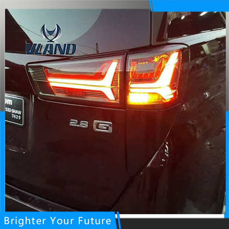 Копченый Красный Задние Фонари Для Тойота Иннова 2016 2017 Тормоза Хвост Света Сигнала Стоп Задний Левый В Сборе Ламп