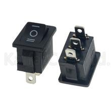 Черный 10 шт./лот 3 Pin Snap-in On-Off-on кулисный переключатель KCD1-103