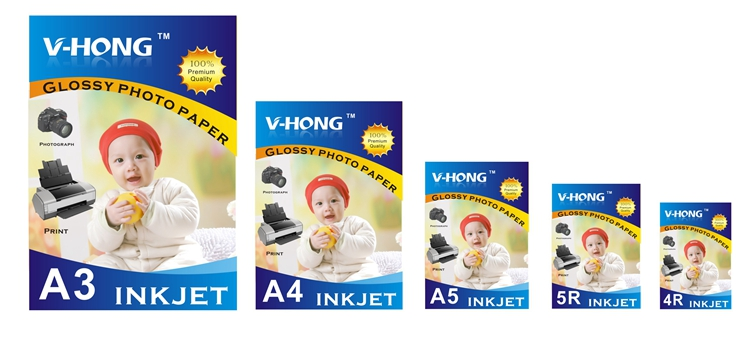 uesd for ink jet printer A3 A4 A5 A6 4R 5R Size photo glossy paper in Photo Paper from Computer Office