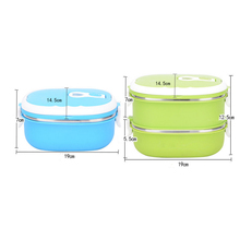 Stainless Steel Rectangular Lunch Box Bento Food Containers