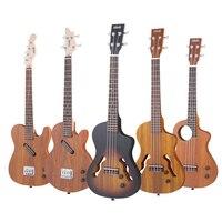 26 дюймов твердой древесины полный Электрический Укулеле Ukelele Интеллектуальные Bluetooth Мини Гавайская гитара с мешком тюнер Капо выбирает рем