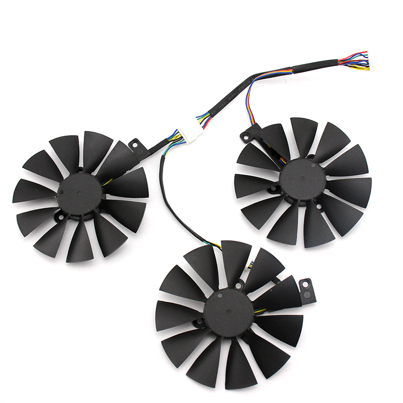 Image 2 - 87mm T129215SH T129215SL 12V 0.30A Fan For ASUS ROG STRIX RTX 2070 O8G GAMING RTX2060 O6G Graphic Card Cooling Fan-in Laptop Cooling Pads from Computer & Office