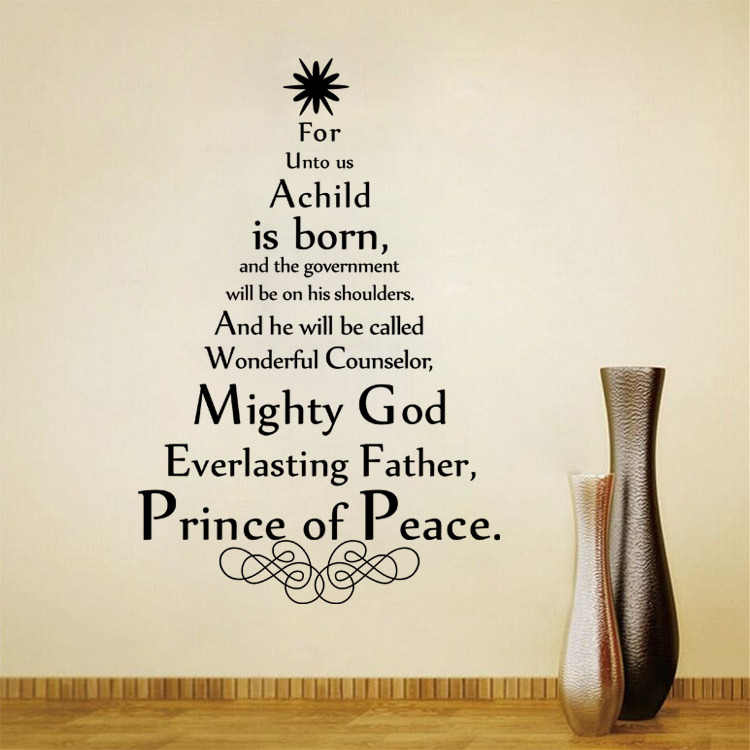 Mighty God Everlasting Father Quote Wall Art Decals Vinyl