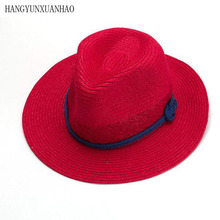 COOL!Straw Panama Hats Wide Brim Sun Women Summer Beach Caps Girl Straw Visors Panamo Sombrero de Verano