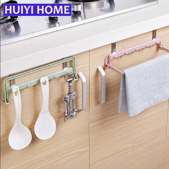 Kitchen Tools Storage Rack Folding Cabinet Door Hook Cloth Hanging Shelf Egn072