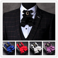 Gentleman Bow Tie Butterfly Men Formal Commercial Cravat Bow Tie Male Solid Color Marriage Bow Ties