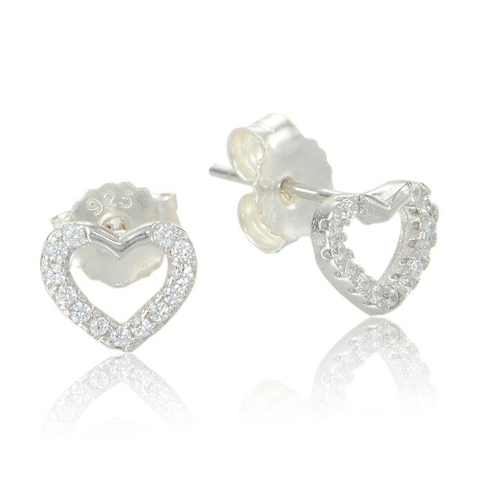925 Sterling Silver Earrings Stud For Women Erfly Back Finding Heart Earring Free Shipping Fe232 Z30 In From Jewelry Accessories On