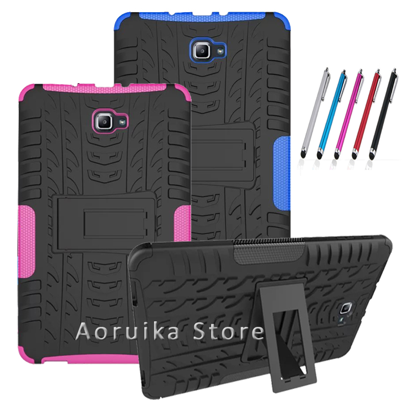 Cover For Samsung Galaxy Tab A 10.1'' T585 Case child Armor Kickstand Silicon Cover for Samsung Galaxy Tab A (A6) 10.1 T580 T581 аксессуар чехол для samsung galaxy tab a t585 10 1 cross case el 4023 blue