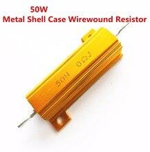 50 W 2.5 3 4 4.7 5 5.6 6 ohm 2.5R 3R 4R 4.7R 5R 5.6R 6R Draadgewonden Aluminium Power metal Shell Case Resistant 5%