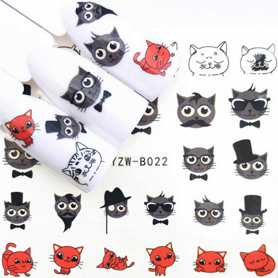 Lolede 1 Lembar Berlian Stiker Kuku Bunga Stiker Slider untuk Dekorasi Nail Art Tato Manikur Wraps Alat 1014