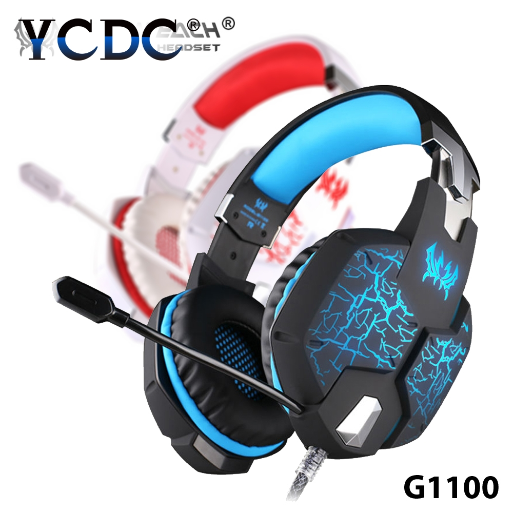 YCDC Headphone G1100 Vibration Function For LOL  Gaming Headset 7.1 Casque Audio Heavy Bass Surround Sound Led Light For PS4 PC each g1100 shake e sports gaming mic led light headset headphone casque with 7 1 heavy bass surround sound for pc gamer