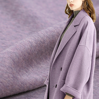 150CM Wide 860G/M Weight Double Faced Purple Thick Alpaca Wool Fabric for Autumn and Winter Dress Outwear Overcoat Jacket DE533