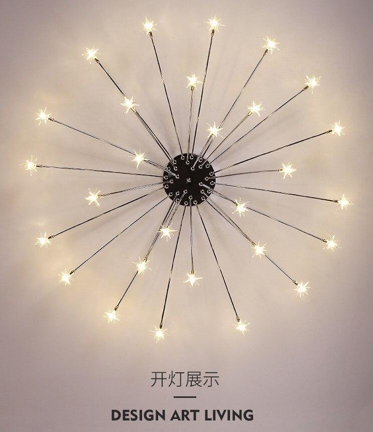 Design criativo lâmpada led lustres de teto