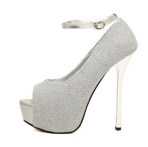 Purple And Silver High Heels | Tsaa Heel