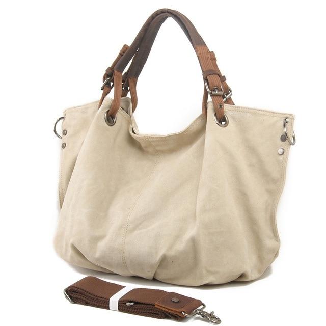 4fa0ec3bb9216 M022 Large Pocket Casual Women's Handbag Shoulder Crossbody Handbags Canvas  Leather Large Capacity Bags For Women Tote Vintage