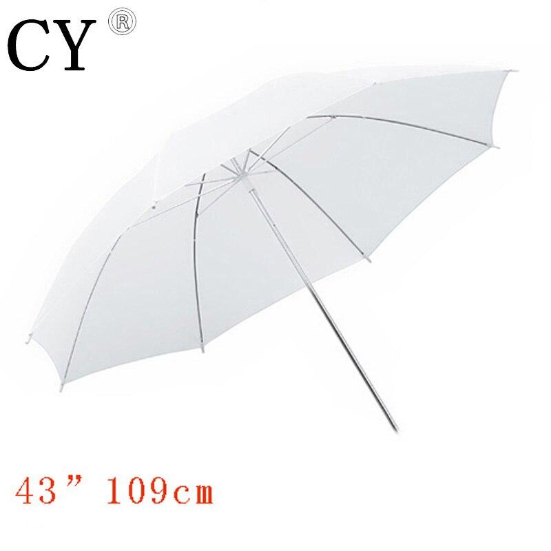 Ligjtupfoto photo studio umbrella 43/ 110cm Photographic White Translucent Umbrella photography accessories PSCU3B