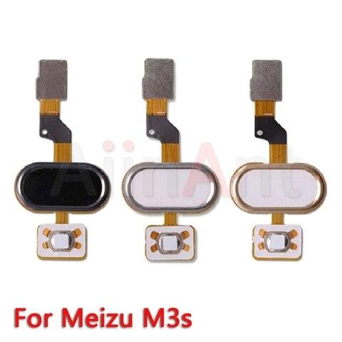 Aiinant Original Home Key Fingerprint Return Button Touch ID Sensor Flex Ribbon Cable For Meizu M3 Note M3s Mobile Phone Parts Karachi