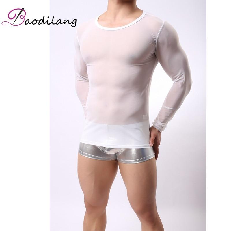 Baodilan Σέξυ ανδρικό διαφανές πλέγμα - Ανδρικός ρουχισμός - Φωτογραφία 5