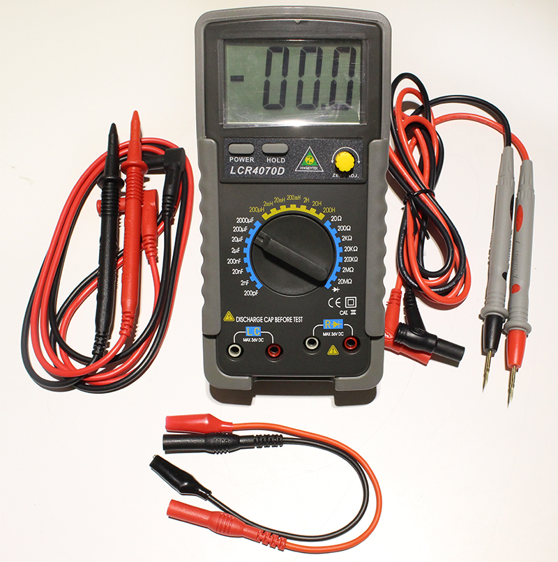 Digital bridge LCR4070D Capacitor mF uF Circuit Gauge Capacitance Meter Tester cnim hot m6013 autorange digital capacitor capacitance circuit tester meter multimeter yellow