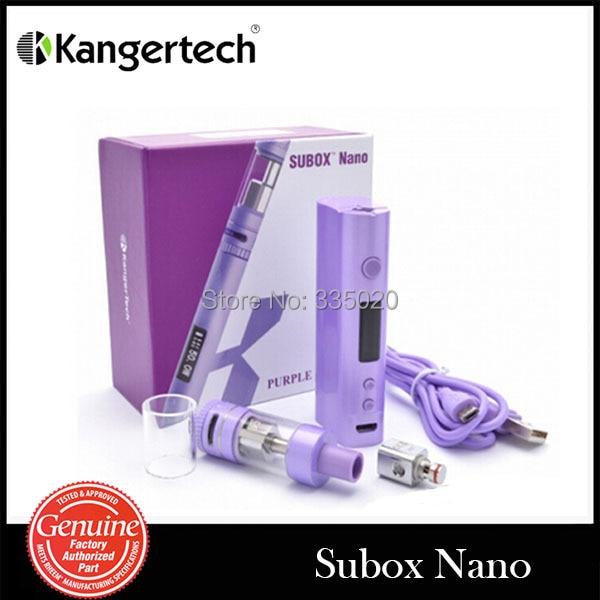 Original Kanger Subox Nano Starter kit 50W Kbox Nano Battery mod with Subtank Nano Atomizer kanger electronic cigarette kanger kbox 8 40w kanger subtank nano 3 0ml with trustfire 18650 battery and one bay charger