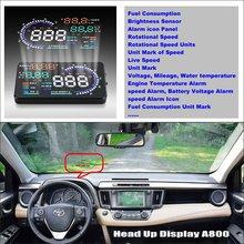 Car Computer Screen Display Projector Refkecting Windshield For Toyota RAV4 RAV-4 RAV 4 2006~2012 - Saft Driving Screen распорка kf3 kx f3 rav 4 rav4