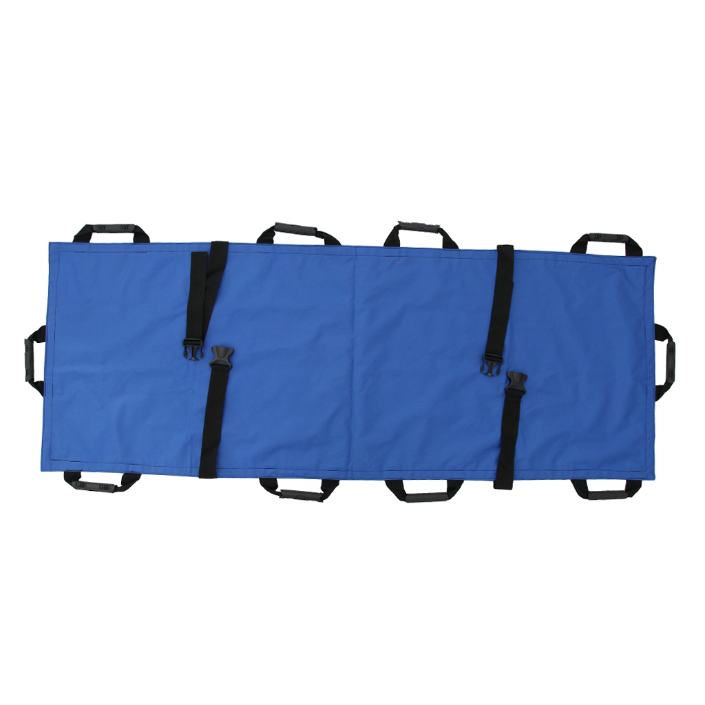Foldable Canvas Stretcher Emergency Rescue Litter Bag Kit for Patient Transferring
