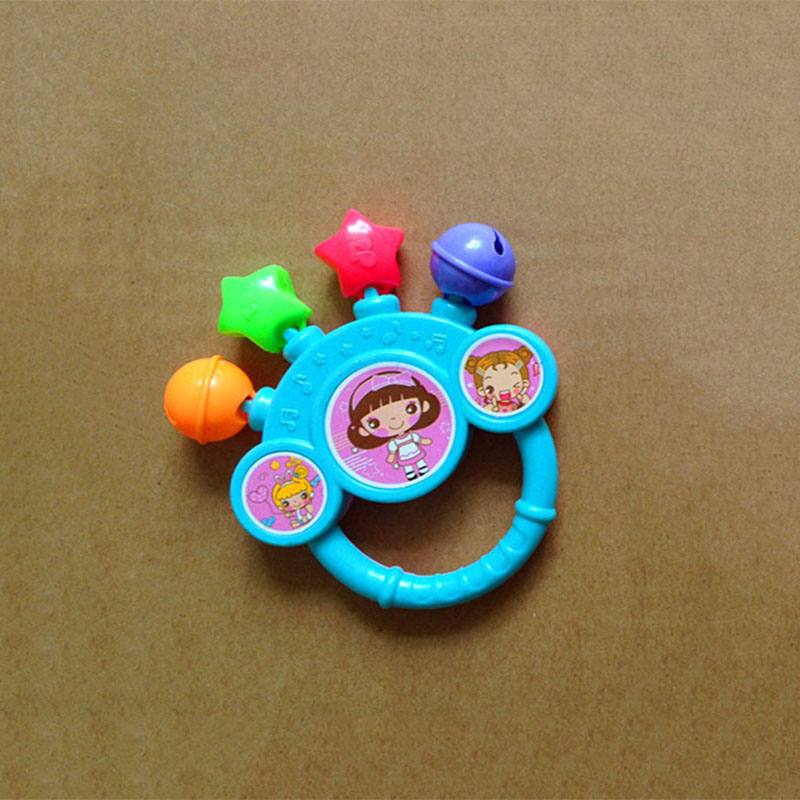 NewFunny Cartoon Infant Baby Newborn Shake Bell Rattles Hand Kids Music Playing Toy Random Color Send