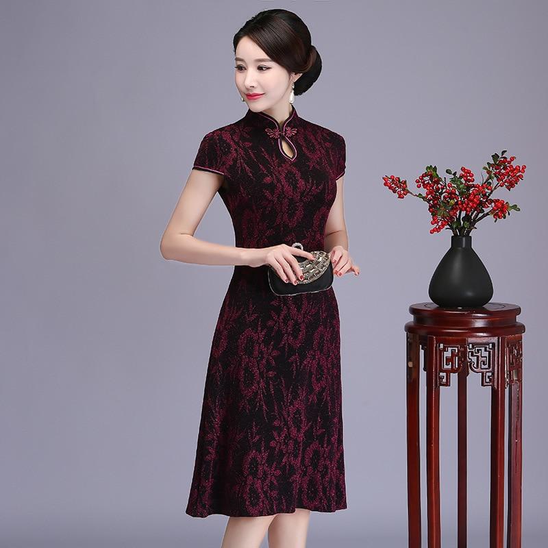 2019 Vietnam Ao Dai Vintage Clothing Vietnamese Traditionally Cheongsam Dress Robe Vietnamese Aodai Asian Dress