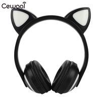 Wireless Bluetooth Headphone Cute LED Bluetooth Headset LED HIFI Game Cat Ears Earphone School