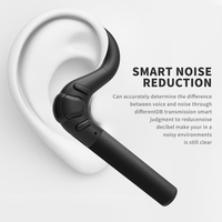 Bluetooth Headset Noise Canceling Earbud Wireless Car Earpiece With Mic Workout Business Earphone Sweatproof For Sports