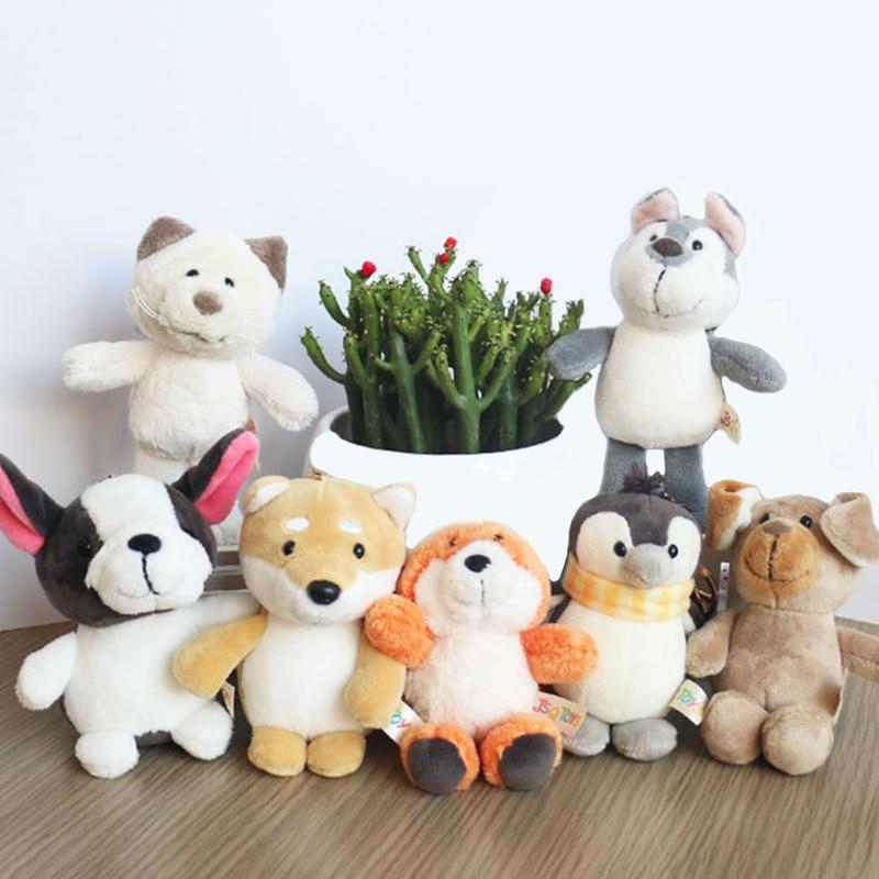 Tiger Cat Plush Key Chain Doll Plush Stuffed Toy Pendant Wedding Bouquet JS