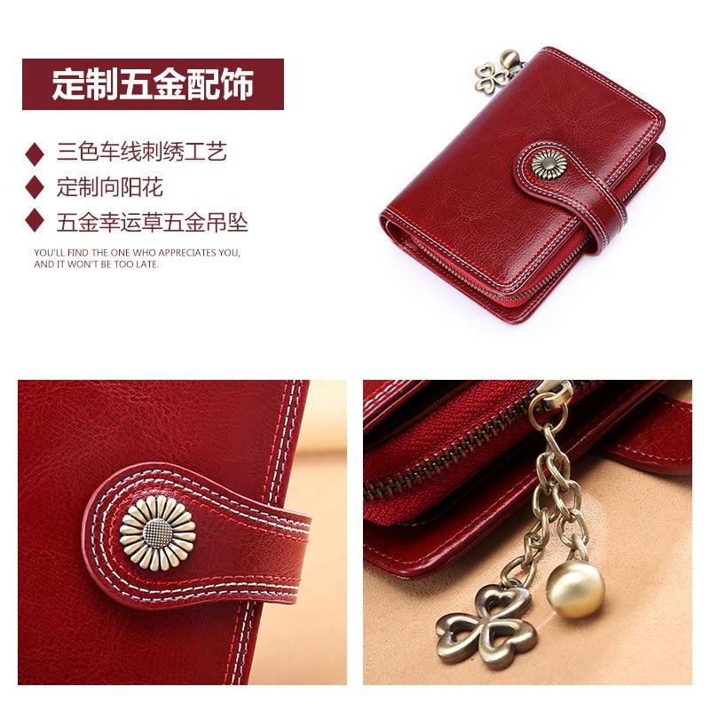 Sendefn 2018 ny plånbok kvinnlig kort stycke läder koreansk student - Plånböcker - Foto 4