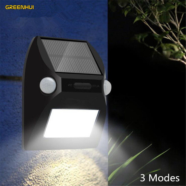Newest 12 Led Solar Light Ip65 Waterproof Wide Angle Security Motion Sensor With 3 Modes Activated For Patio Garden
