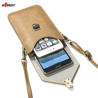 BrankBass 6 3 Universal PU Leather Phone Bag Shoulder Pocket Wallet Pouch Case Neck Strap For