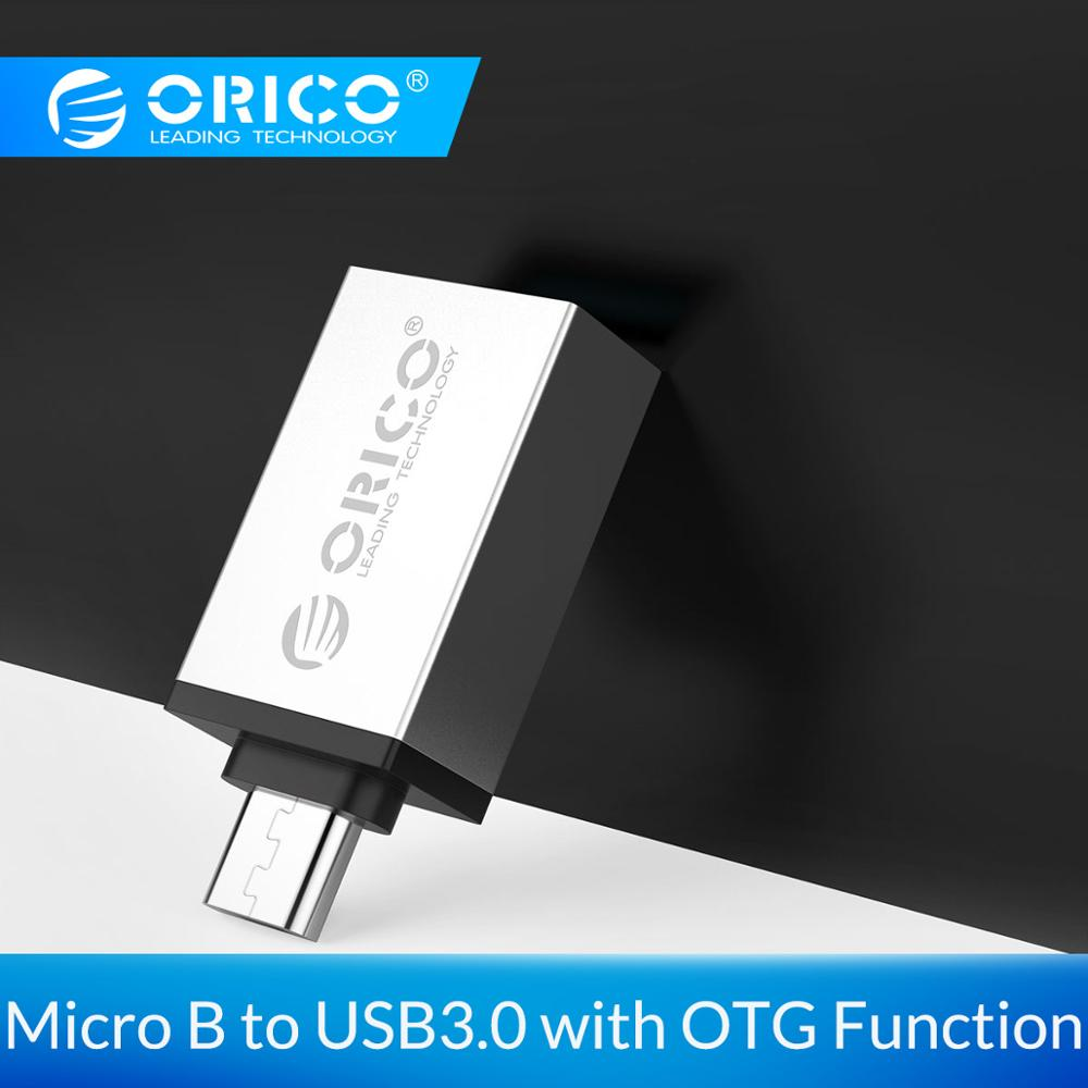 ORICO OTG Adapter Micro B To USB 3.0 Convertor USB3.0 5Gpbs Transmission Rate Aluminum Alloy Case For Phone Tablet
