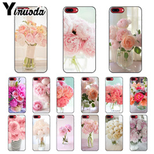 Yinuoda Pink Flower Peony On The Vase High Quality Phone Case for Apple iPhone 8 7 6 6S Plus X XS MAX 5 5S SE XR Mobile Cases yinuoda demi lovato customer high quality phone case for apple iphone 8 7 6 6s plus x xs max 5 5s se xr mobile cover