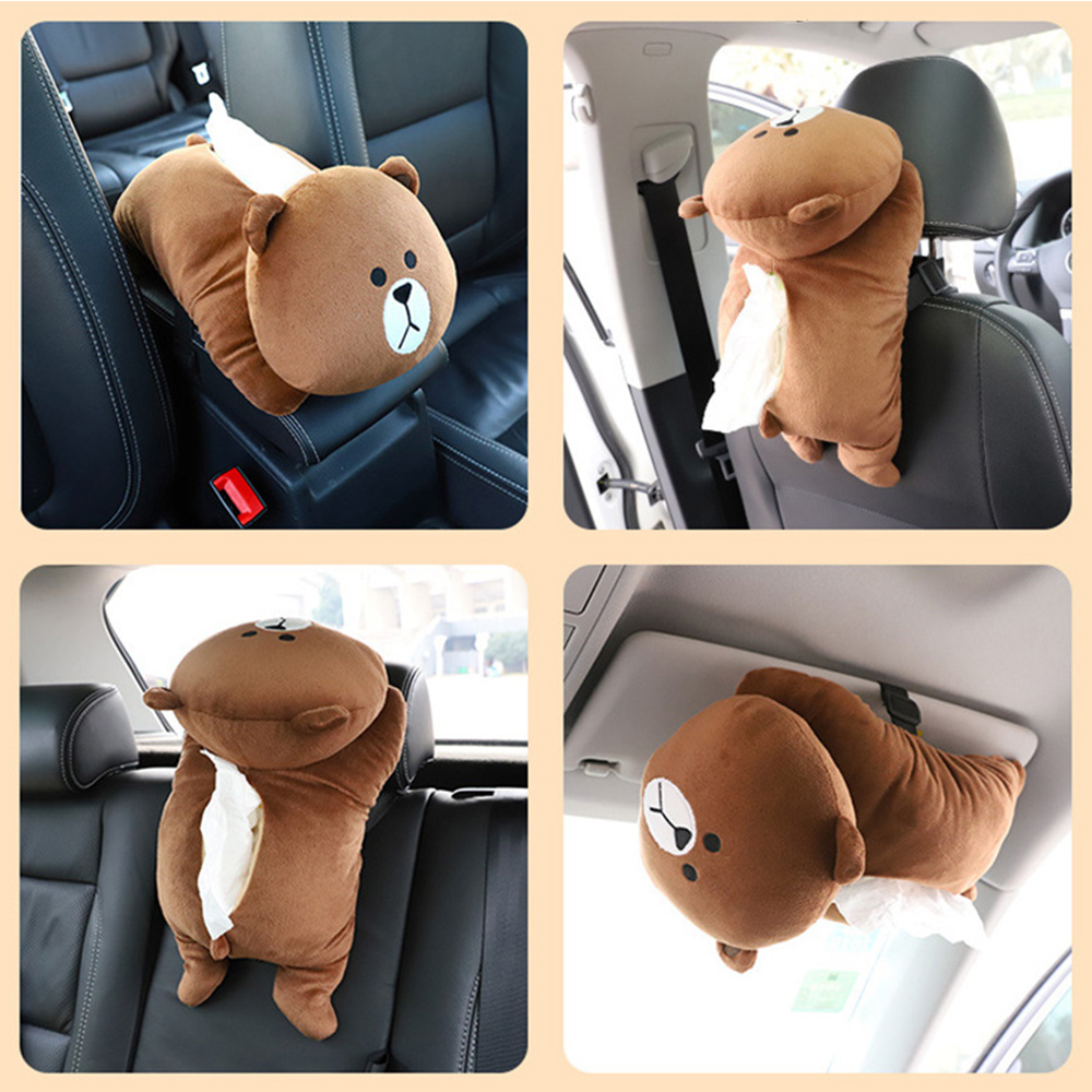2019 Car tissuse box Universal Armrest Box Tissue Creative Cartoon Cute Interior Products Accessories